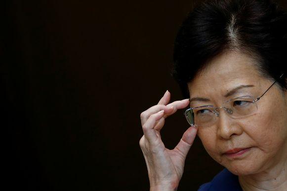 Carrie Lam verdedigde vandaag opnieuw het optreden van de politie.