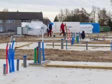 Nieuwe chalets voor woonwagenbewoners in aanbouw in Best