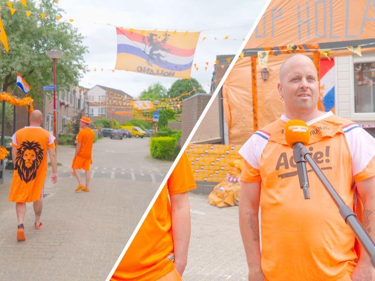 Dé Oranjestraat van Nederland: 'We hebben hier drie kilometer aan oranjevlaggetjes hangen'