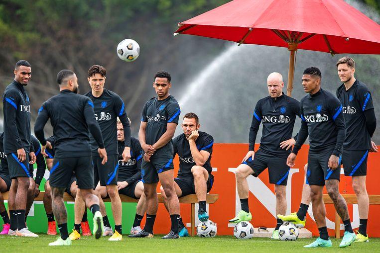 Trainingskamp van Oranje in Portugal. Beeld