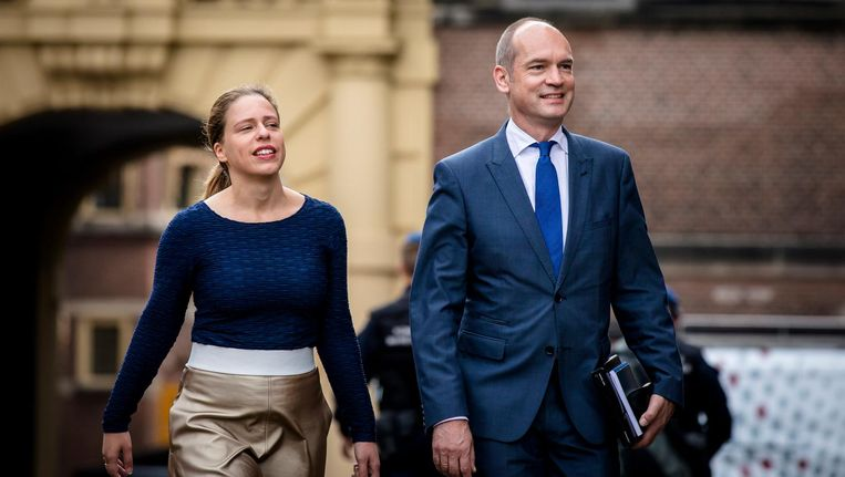 Carola Schouten, het financiële brein van de ChristenUnie en fractievoorzitter Gert-Jan Seegers Beeld ANP
