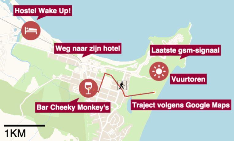 Na de verdwijning van Théo Hayez dachten politie en reddingswerkers dat hij in de richting van zijn hostel stapte.