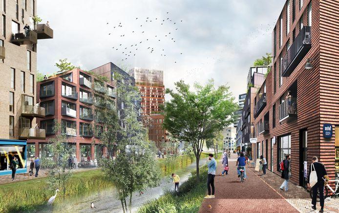 In de wijk Merwede komt veel openbaar groen.