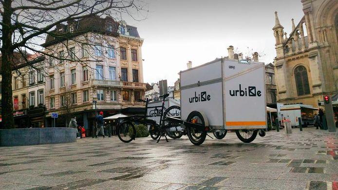 Urbike fiets met aanhangwagen
