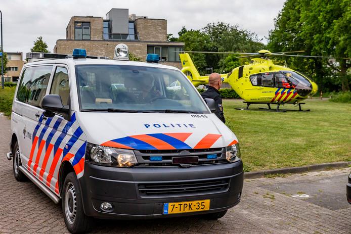 Behalve de traumahelikopter kwamen ook de politie en ambulance ter plaatse.
