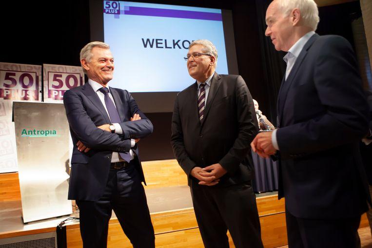 Martin van Rooijen, Henk Krol en Geert Dales in november 2018. Beeld Maarten Hartman