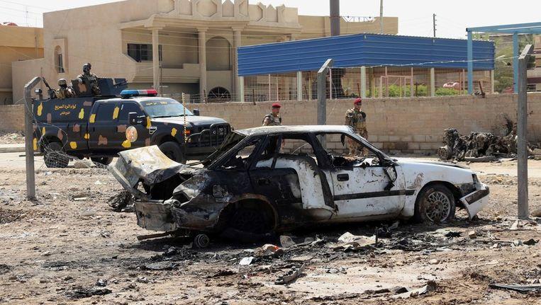 De plek van de aanslag in Irak Beeld ap