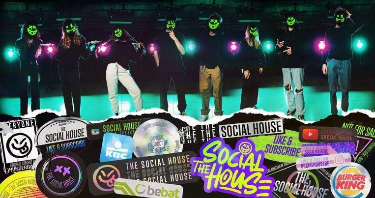 De diversiteit blijkt ver te zoeken in de YouTube-reeks 'The Social House'. Beeld Wünderbaar