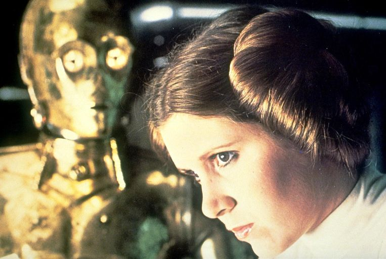 Carry Fisher als prinses Leia in Star Wars: A New Hope. Beeld anp