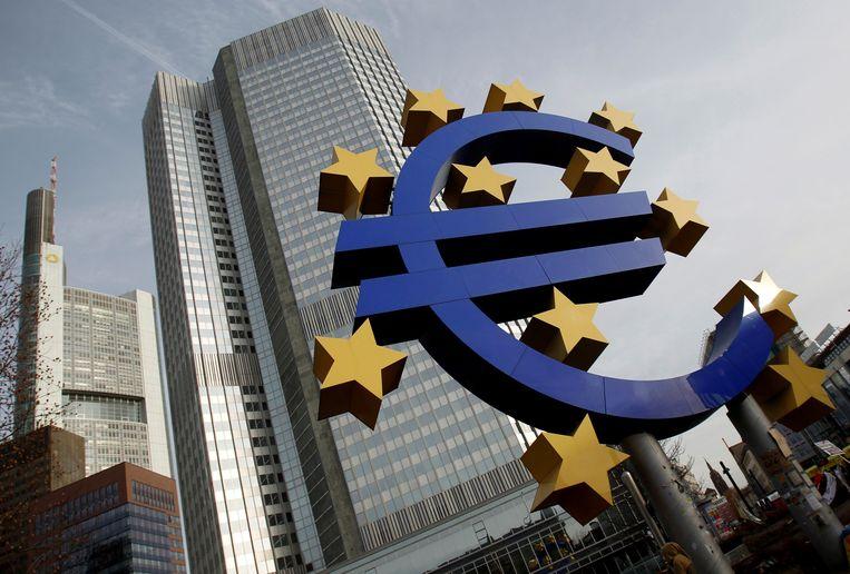De Europese Centrale Bank is niet te spreken over de Britse banken.  Beeld REUTERS