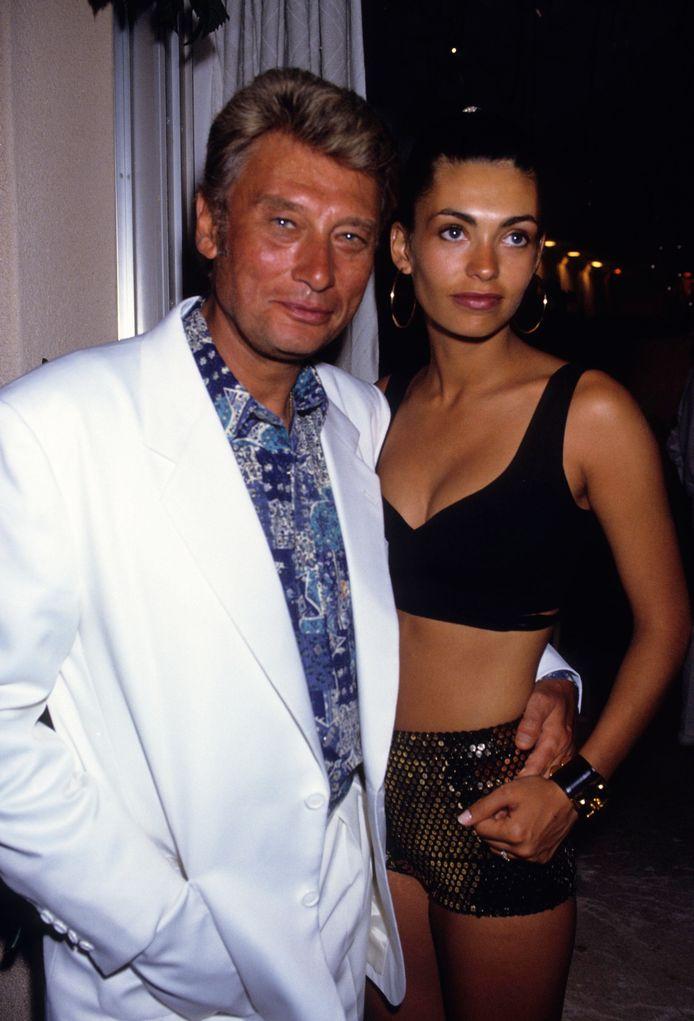 Johnny Hallyday et Adeline Blondieau