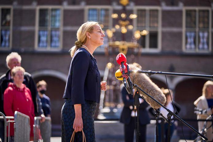 D66-leider Sigrid Kaag wil dat er voor de zomer een nieuw kabinet op het bordes staat.
