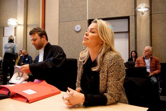 Bridget Maasland in de rechtbank in Amsterdam.