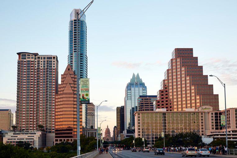 Uitzicht vanaf de Congress Avenue Bridge, Austin, Texas. Beeld Alamy Stock Photo