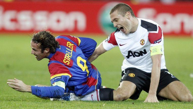Vidic viel uit met een zware knieblessure. Beeld AP