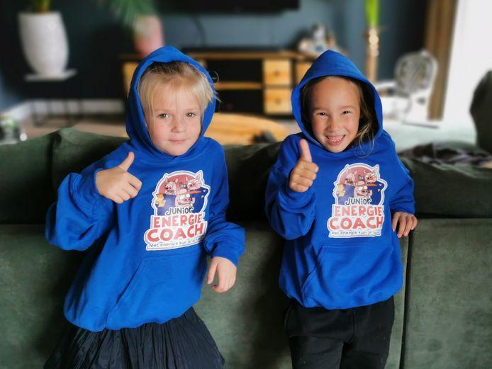 Jonge deelnemers van het Junior Energiecoach-spel.