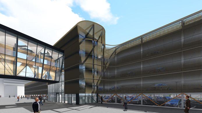 De nieuwe parkeergarage bij Bisonspoor in Maarssenbroek.