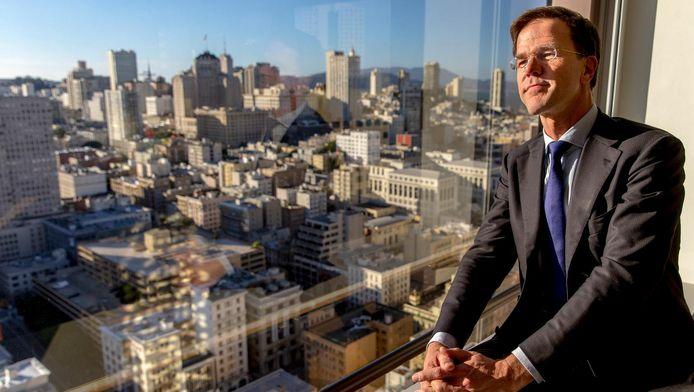 Mark Rutte tijdens zijn bezoek aan Silicon Valley in februari.