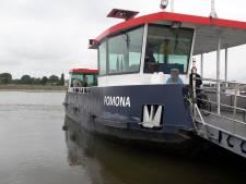 Voetveer Pomona Tiel-Wamel vaart op zijn vroegst pas woensdag weer