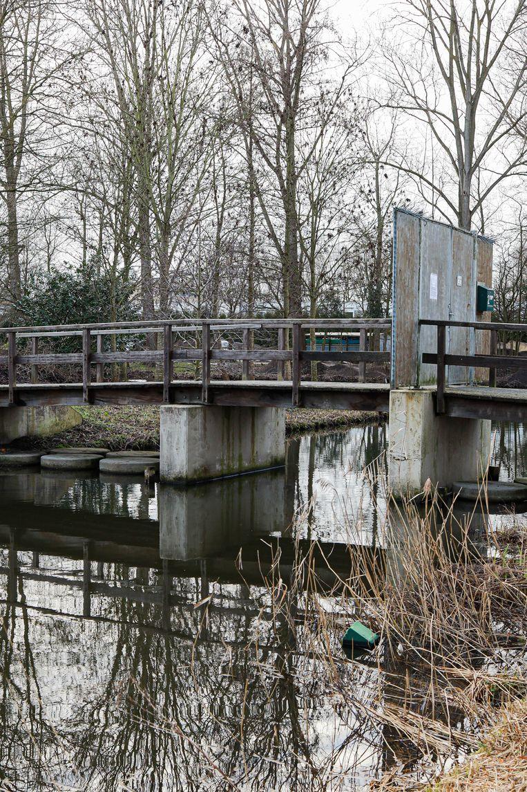 Op 13 maart stuitten we in Geuzenveld op Brug 643. De vaste houten brug die de Geleyn Bouwenszstraat verbindt met het Geuzeneiland is de vervanger van de vroegere pontonbrug met beweegbaar middenstuk uit 1961. Winnaar van het jaarabonnement op Ons Amsterdam is Annebelle Kramer. Beeld Anouk Hulsebosch