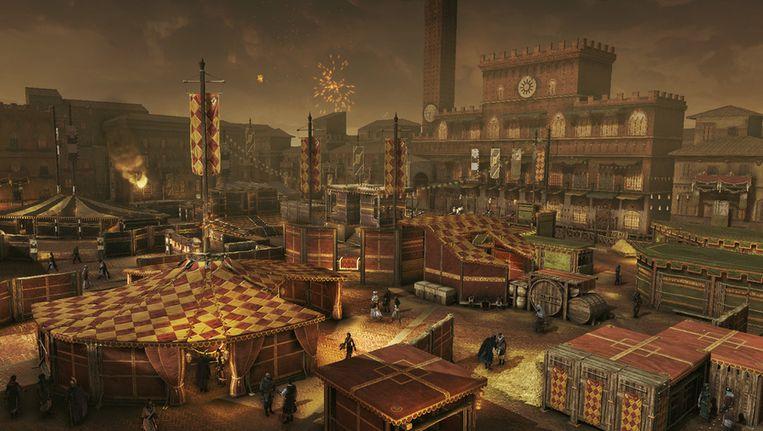 Het carnaval in Siena is nu ook te bezoeken in 'Assassin's Creed Revelations'. Beeld UNKNOWN