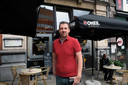 Kevin Vanderauwera voor zijn restaurant L'Etoile D'Or in betere tijden.