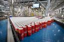 Dagelijks rollen deze blikjes Coca-Cola in grote aantallen van de band in Dongen.