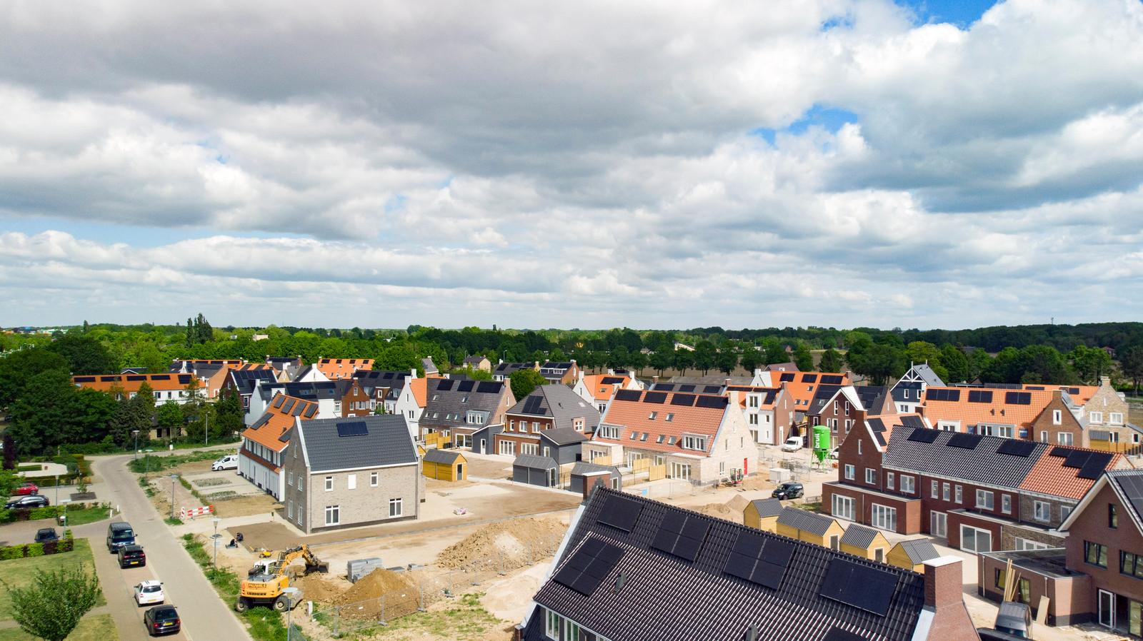 Aan de Wijchense wijk Huurlingsedam wordt nog volop gebouwd.