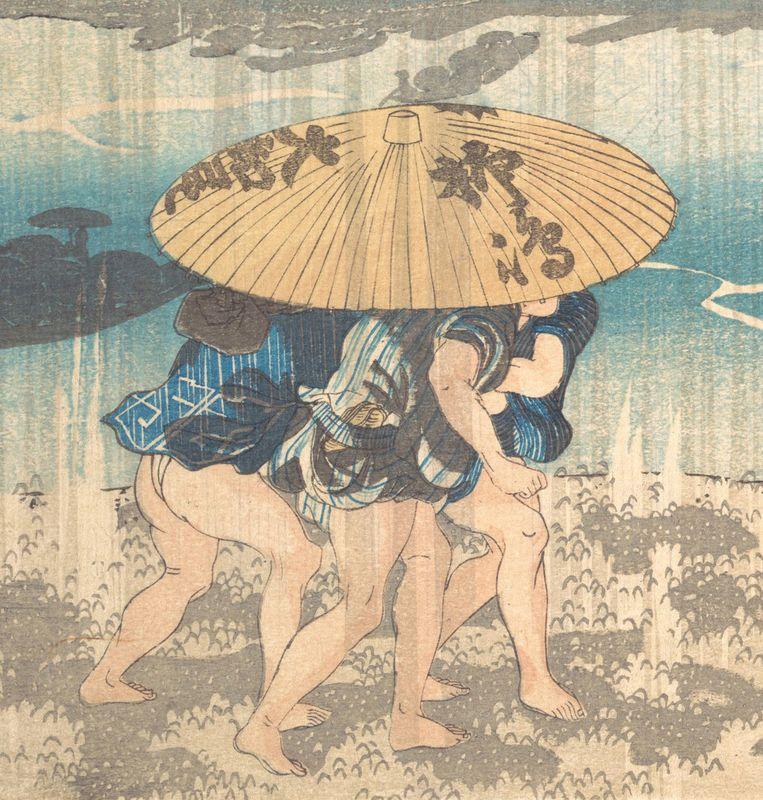 Utagawa Kuniyoshi, detail uit Onmayagashi in Edo (1830-44). Beeld Metropolitan Museum New York