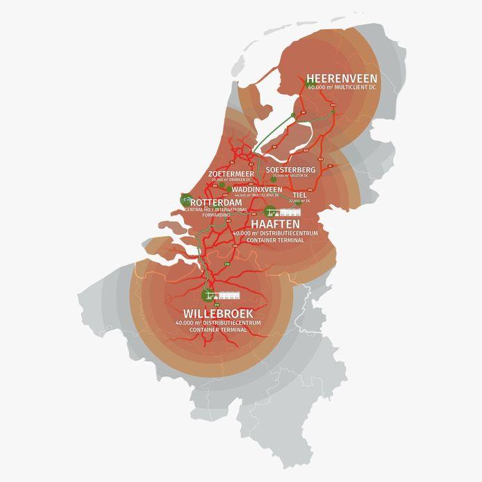 De nieuwe 'landkaart' van Nedcargo na de overname van Portena.