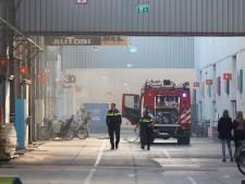 Hulpdiensten rukken uit voor brand in de Schiehallen