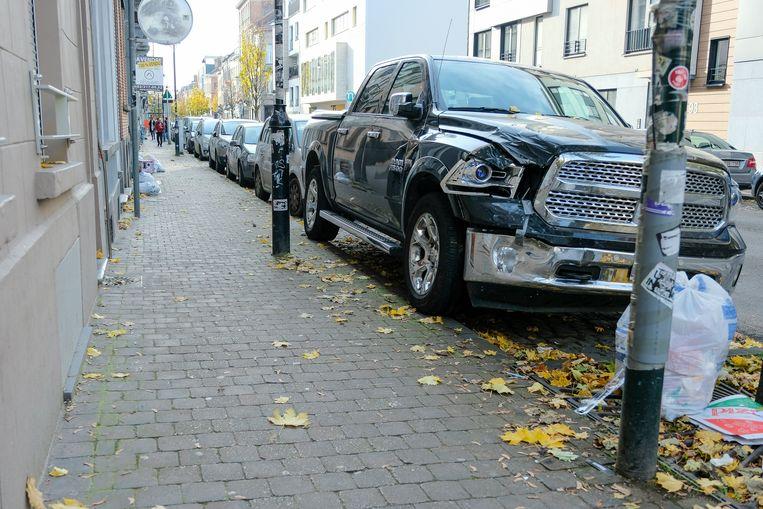 Een SUV in Brussel.
