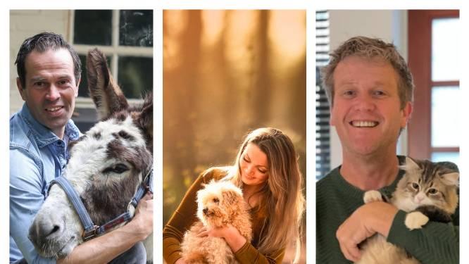 Acht bekende Tukkers met hun dier: de ezel van Bas Nijhuis en dalmatiër van Wibi Soerjadi