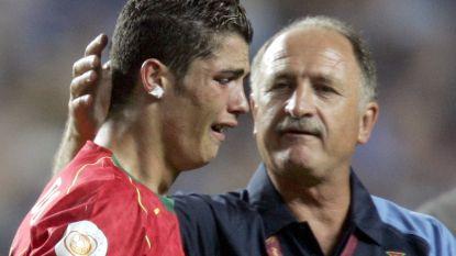 """IN BEELD. De tranen van Ronaldo door de jaren heen: """"Hij was vroeger altijd al een huilebalk"""""""