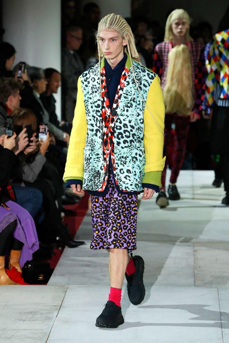 Comme des Garçons stuurde  blanke modellen met cornrows de catwalk op. Beeld Getty Images