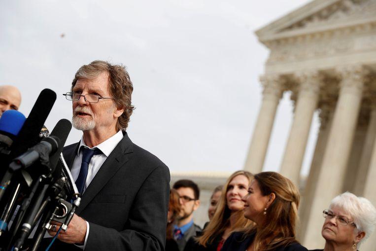 Jack Phillips na de zaak in het Amerikaanse hooggerechtshof.