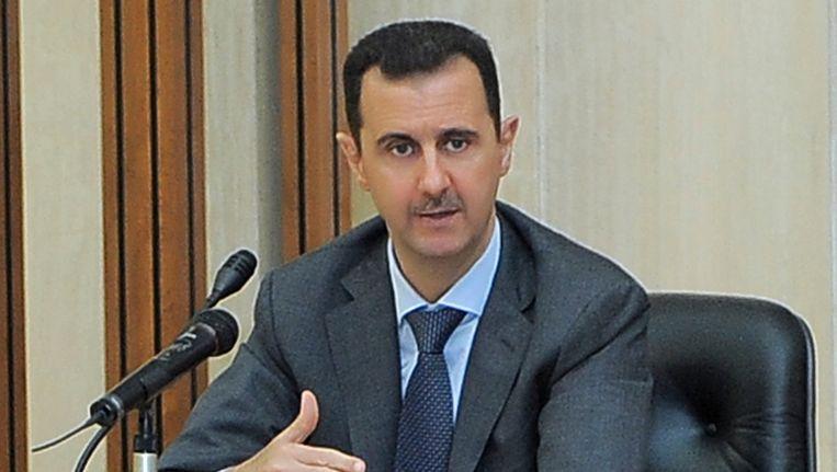 De druk op de Syrische president Bashar al-Assad wordt door de uitspraken van Obama en de EU verder opgevoerd. Beeld AP