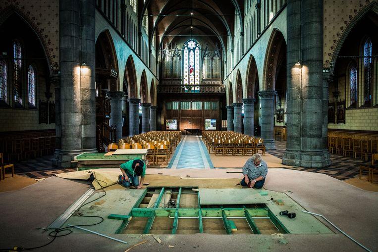 Het altaar in de Sint-Coletakerk moest wijken voor de Theater- en Filmschool van Stijn Brouns