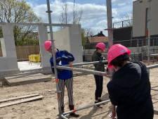Udense meiden tijdens Girls' Day aan de slag op bouwproject