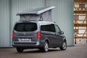 Een tot camper omgebouwde Mercedes-Benz Vito, ook wel bekend als 'Marco Polo'