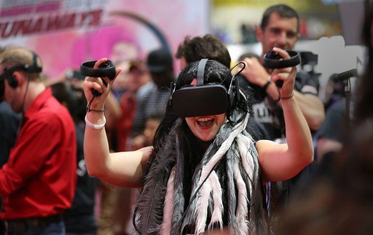De Oculus Rift VR-bril. Beeld Photo News