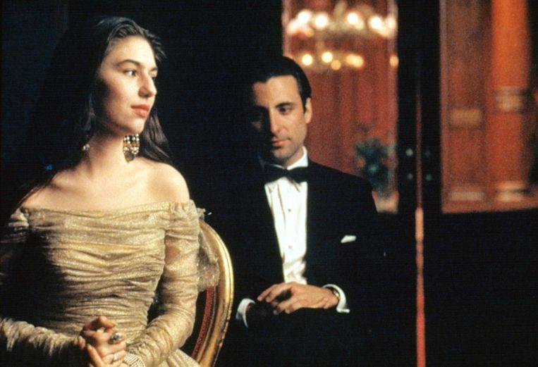 Sofia Coppola en Andy Garcia in The Godfather III van Francis Ford Coppola.  Beeld