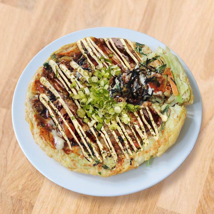 Okonomiyaki, Japanse pizza.