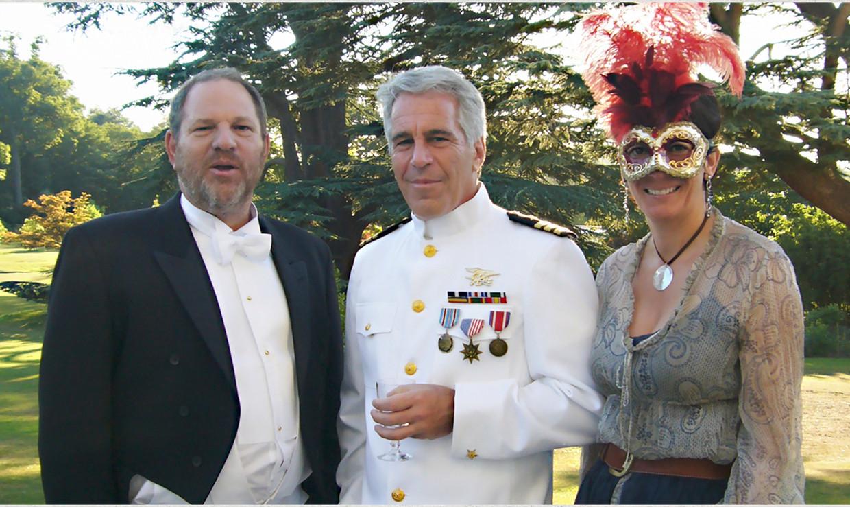 Harvey Weinstein, Jeffrey Epstein en Ghislaine Maxwell. Beeld Getty