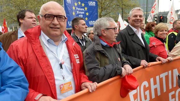 Rudy De Leeuw van het ABVV.
