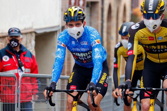 Van Aert voorafgaand aan de derde etappe.