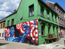Graffitimuur aan Oude Beestenmarkt vier maanden na opening ingevuld