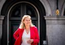 Sigrid Kaag (D66) na afloop van een gesprek met informateur Mariette Hamer.