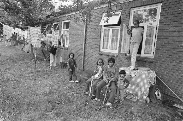 Het Molukse kamp Lunetten in 1984 in Vught. Beeld Alamy Stock Photo