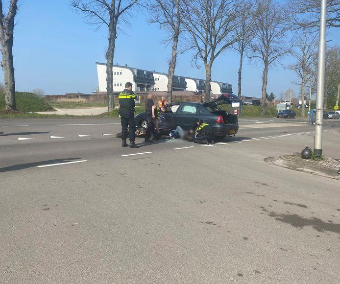 Het ongeluk op de Rijksweg in Molenhoek.